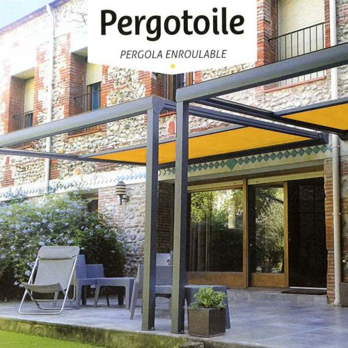 Pergola toille enroulable